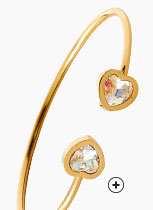 Idée cadeau : Bracelet Swarovski ajustable pour femme laiton doré à cristaux - Blancheporte