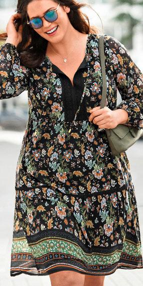 La robe imprimée foulard