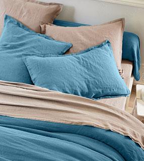 Les parures de lit en lin lavé