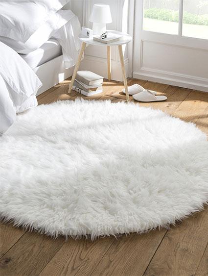 Quelle déco avec le tapis à poils longs ?