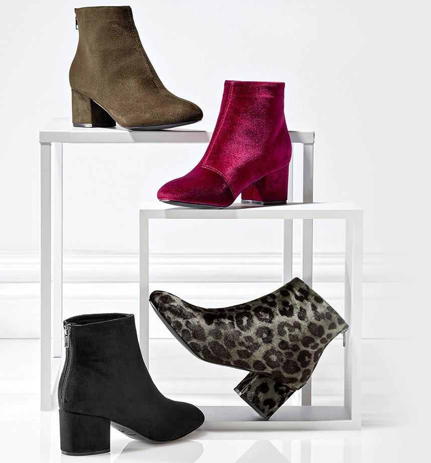 Nouveautés chaussures : les boots en velours font leur show
