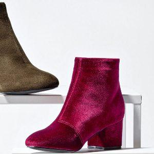 Nouveautés chaussures : les boots en velours