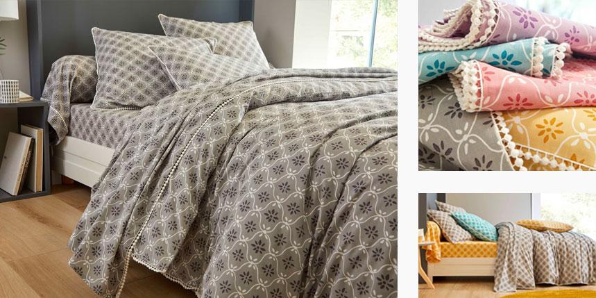Le linge de lit Emma version grise
