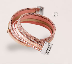 Bracelet fantaisie multi-rangs