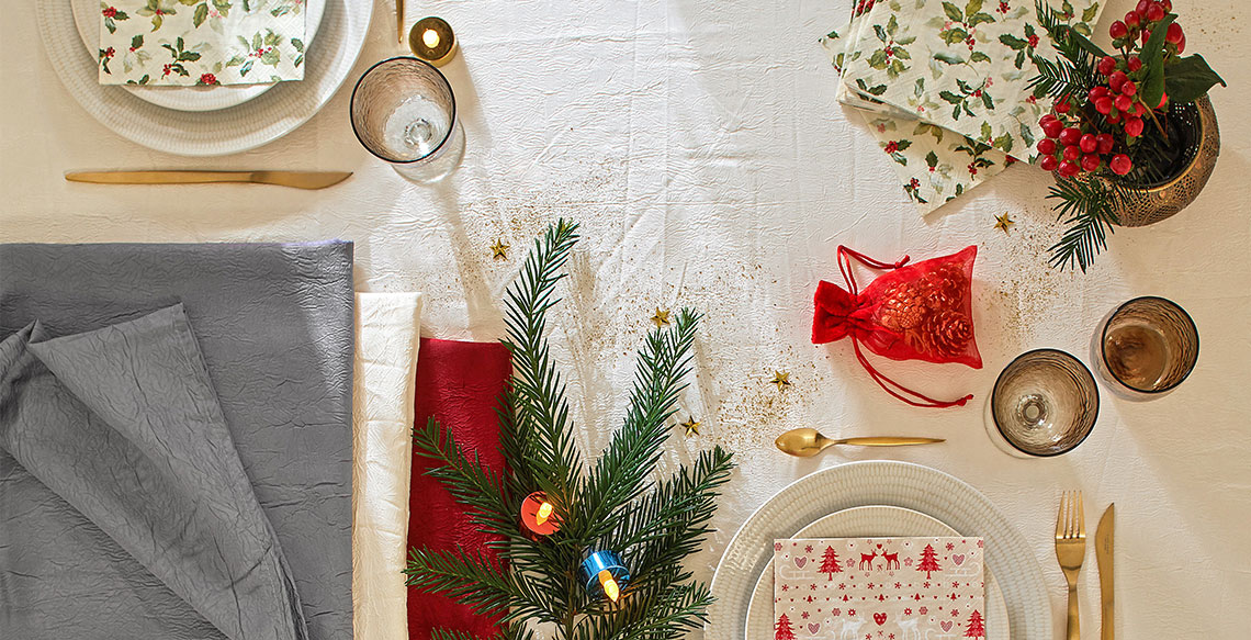 Déco de fêtes: la table à l'honneur!