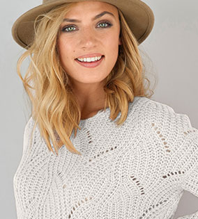 pull col rond toucher mohair