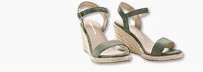 sandales compensées talon corde