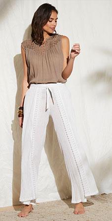 Pantalon fluide blanc