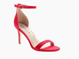 Sandales rouge à bride - Blancheporte