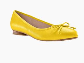 Ballerines jaunes plates - Blancheporte