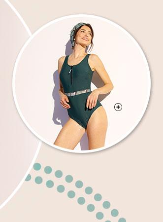 Maillot de bain femme 1 pièce post-opératoire Coeur de Lys® - Blancheporte