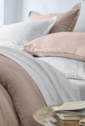 Linge de lit en lin uni