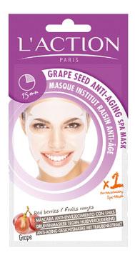 Masque tissu visage raisin anti-âge