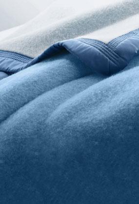 Couverture bleue laine 500g/m2