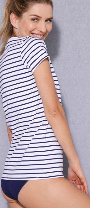 Tee-shirt rayé coton