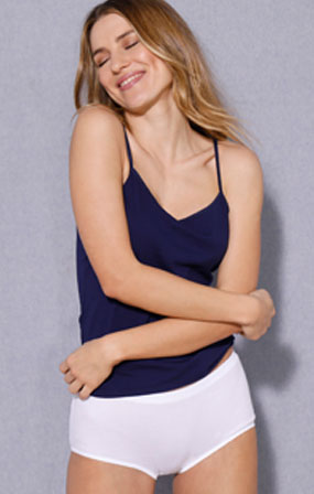 Culotte blanche coton forme maxi