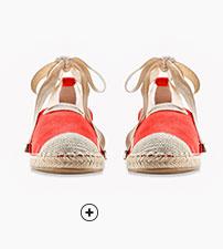 Sandales espadrilles rouges