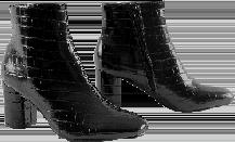 Boots noires effet croco