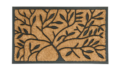 Tapis paillasson d'extérieur rectangulaire motif arbre - Blancheporte