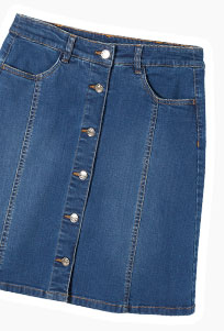 Jupe en jean boutonée