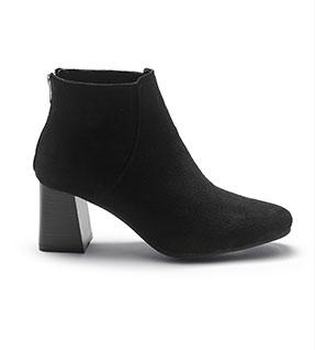 Boots noires à talon