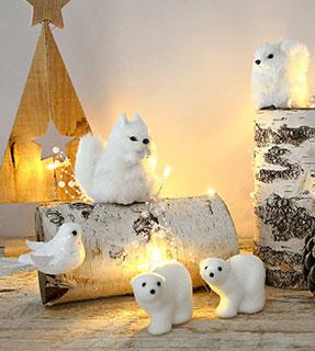 Décoration de Noël écureuil blanc - Blancheporte