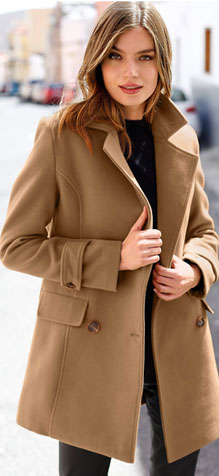 Manteau marron caban