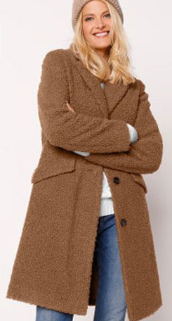 Manteau bouclette marron