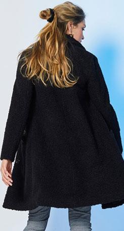 Manteau bouclette noir