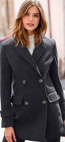 Manteau gris caban