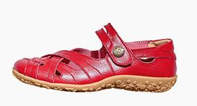 Babies rouges confort en cuir ultra-souple pas cher - Blancheporte