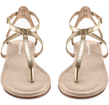 Sandales entredoigt - doré - pas cher - Blancheporte