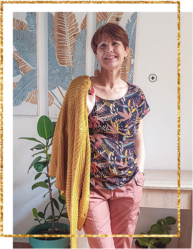 Gilet jaune en maille fantaisie boutonnée manches longues - pas cher - Blancheporte