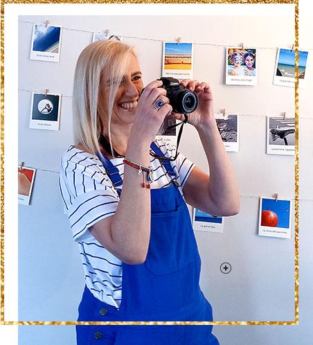 Salopette bleue à bretelles boutonnée côtés en coton Sodéco - pas cher - Blancheporte