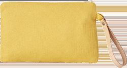 Petite trousse zippée - jaune curry, fabrication éco-responsable - pas cher - Blancheporte