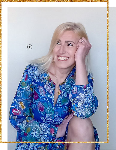 Robe bleue imprimé floral fluide volanté manches longues - pas cher - Blancheporte