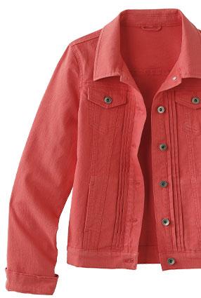 Veste rose boutonnée plis fantaisie manches longues - pas cher - Blancheporte