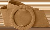 Ceinture marron large à boucle - pas cher - Blancheporte