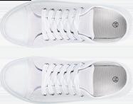 Basket en toile - blanc - pas cher - Blancheporte