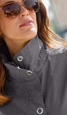 Parka gris capuche intégrée déperlante manches longues - pas cher - Blancheporte