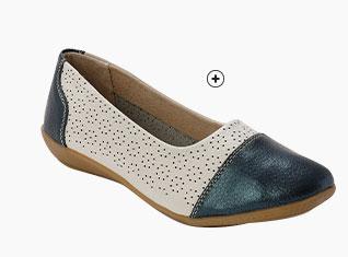 Sandales marrons en cuir ajouré pailleté grande largeur Pédiconfort® pas cher - Blancheporte