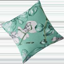 Housse de coussin vert imprimé floral - lot de 2 COLOMBINE®  - pas cher - Blancheporte