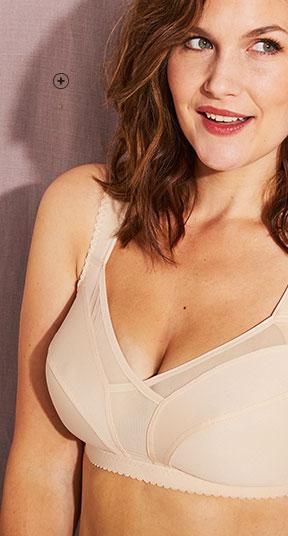 Soutien-gorge sans armatures couleur chair invisible minimiseur grande taille Isabella® pas cher - Blancheporte