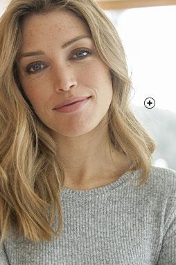 Robe longue grise coupe droite maille côtelée avec fentes col rond manches longues pas cher - Blancheporte