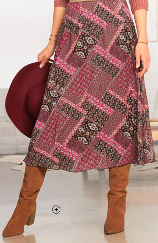 Bottes femme cuir marron plissées large talon pas cher - Blancheporte