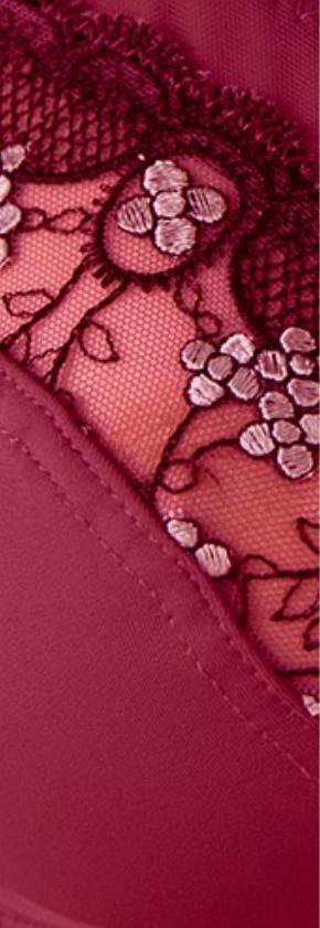 Soutien-gorge rouge sans armatures grand maintien Confidence Lingerie® Oeko-Tex® pas cher - Blancheporte
