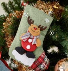 Chaussettes de Noël motif Père Noël, renne, ours et bonhomme de neige pas cher - Blancheporte