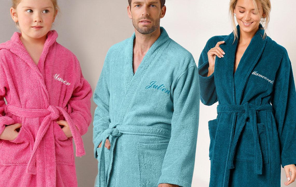 Idée cadeau personnalisé: offrez une serviette ou un peignoir unique!